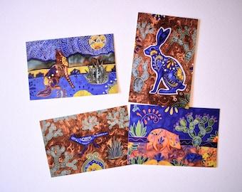 Talavera Style Postcards - Set of 4