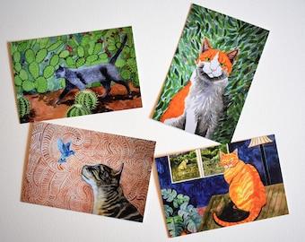 Fabulous Felines Postcard Pack - Set of 4