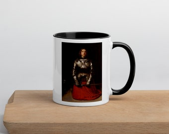 St. Joan of Arc - Mug with Color Inside - Patron Saint of France and Soldiers - French Catholic Gift