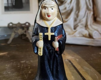Vintage Nun Bottle Opener - Figural - Cast Iron - Sister - Kitsch Collectible - Catholic School