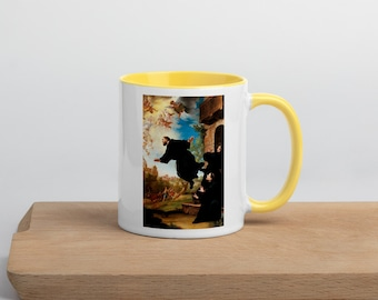 St. Joseph of Cupertino - Mug with Color Inside - Patron Saint of Students, Test Takers, Pilots - Flying Monk - The Reluctant Saint