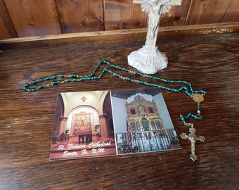 Vintage Postcard - St. Francis Cathedral in Santa Fe, New Mexico - La Conquistadora - Our Lady of the Rosary
