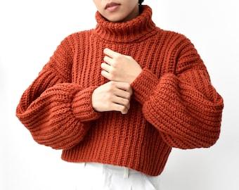 Crochet sweater pattern, Easy crochet sweater pattern, Turtleneck sweater crochet, Oversize sweater pattern, Beginner crochet pullover