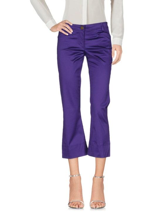 Roberto Cavalli purple 3/4 y2k pants just cavalli