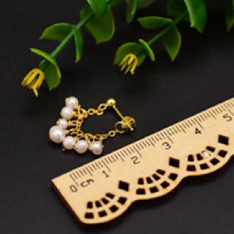 Pearl Bridal Earring Dangle Pearl Earring Tasseled Pearl Earring|Pearl Earring|925 Sterling Silver Ear Pin Pearl Ear Jacket Pearl Earring