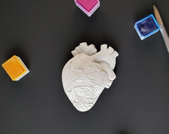 Concrete Magnetic - Anatomical Heart | cement magnet - anatomical heart