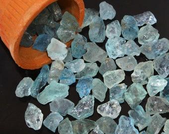 Quartz stone rock tender drop round Aquamarine earrings simple small real natural raw polished aquamarine gemstone light blue pastel