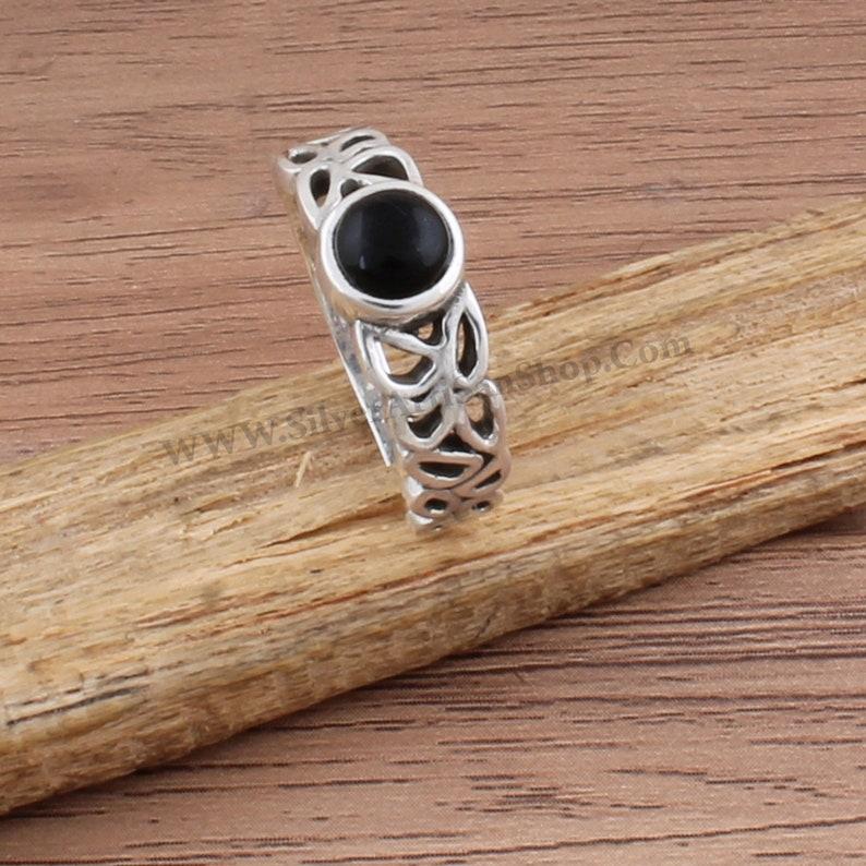 Black Onyx Ring,Black Oval Boho Silver Ring,925 Sterling Silver Ring,Natural Black Onyx Top Quality Gemstone Ring,Bride Ring Gift For Sis