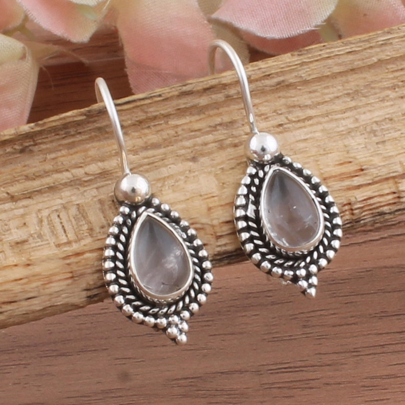 925 silver chain earrings and smoked quartz silver and stone d borrowing earrings silver earrings