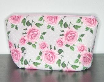 BIO - Kosmetiktasche mit Rosen