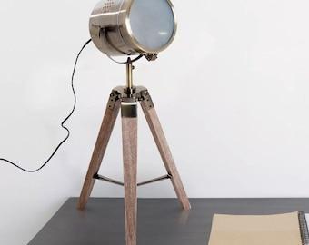 vintage tripod table lamp