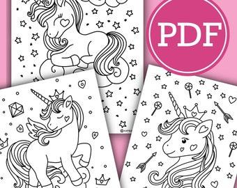 Unicorn Coloring Pages | Raising Smart Girls | 270x340