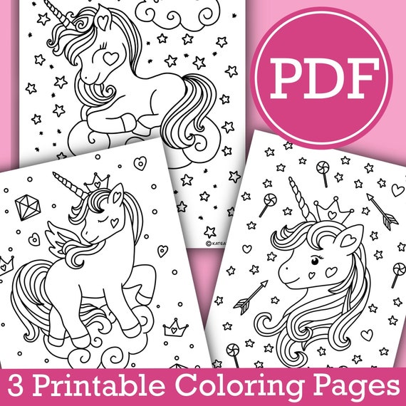 - Printable Unicorn Coloring Pages For Kids Unicorn Pictures To Etsy