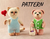 Amigurumi crochet pattern 2 in 1 cat and bear crochet stuffed animals crochet stuffed animals