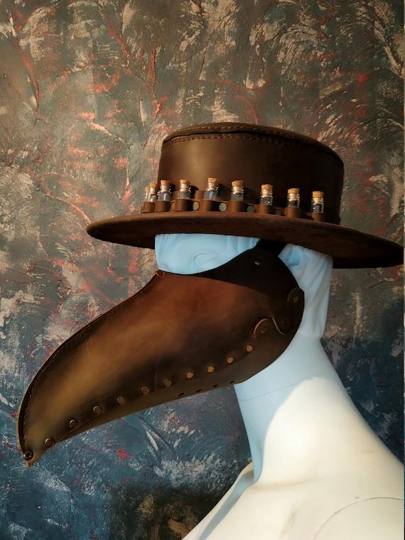 Alchemist Party Kit Hat And Mask Handmade Leather Alchemist Etsy