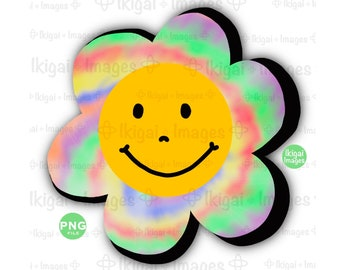 Smiley Face Tie Dye Sublimated Adult T-Shirt