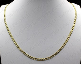 Solid 10k Yellow Gold Figaro Link ID Bracelet with Secure Lobster Lock Clasp 6.2mm