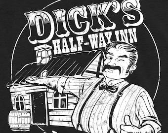 Dick's Half-Way Inn Funny Graphic Unisex T-Shirt