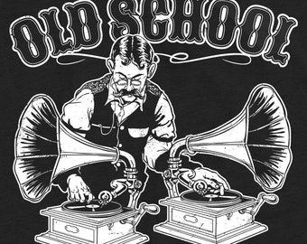 Old School DJ Graphic Unisex T-Shirt