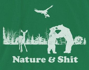 Nature & Shit Funny Outdoors Bear Deer Eagle Unisex T-Shirt