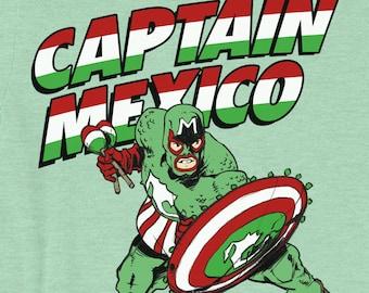 Captain Mexico Superhero Graphic Unisex T-Shirt