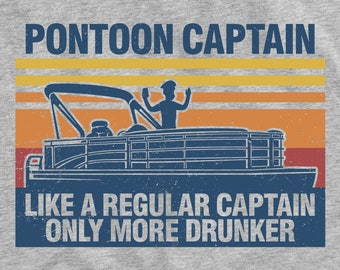 Pontoon Captain More Drunker Unisex T-Shirt