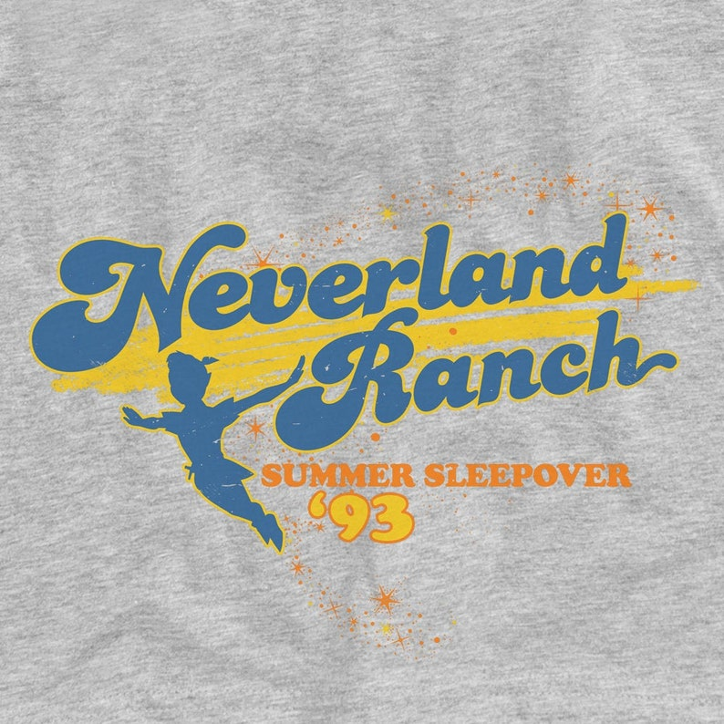 Neverland Ranch Summer Sleepover '93 Funny Graphic T-Shirt image 0