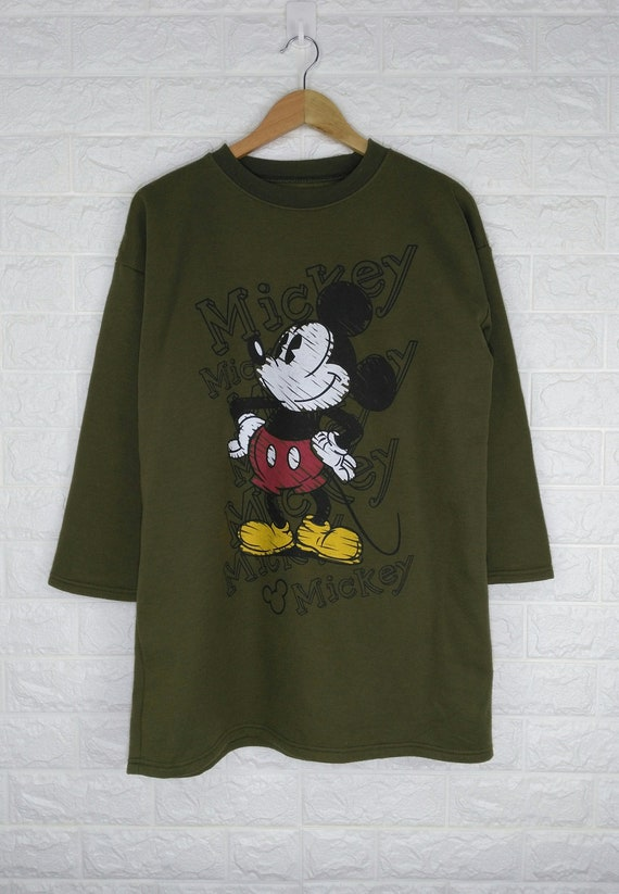 BIG MICKEY Mouse Sweatshirt Vintage 90's Cartoon D