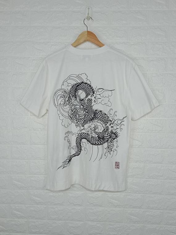 Vintage Karakuri Tamashii Dragon Shirt Size L