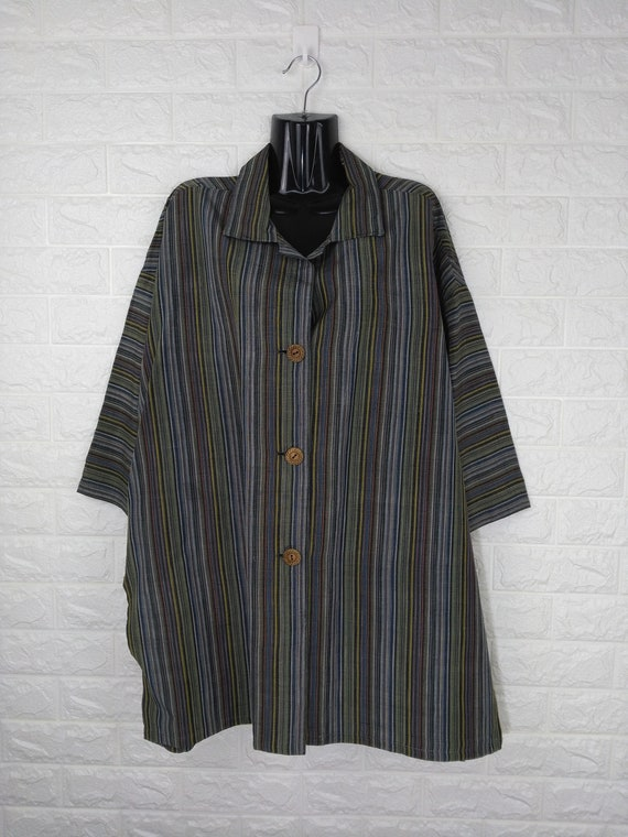 Vintage Long Pyjamas Striped Pattern With Big Butt