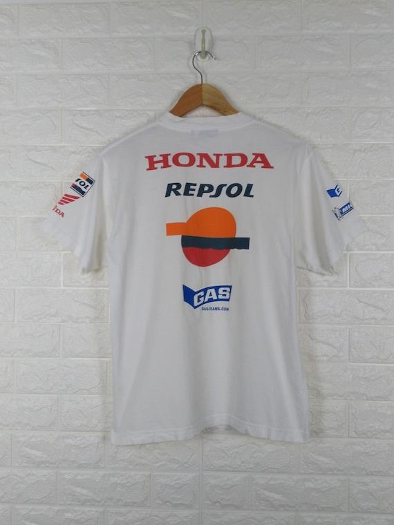 Vintage 90's HONDA REPSOL Gas Michelin Big Logo Ho