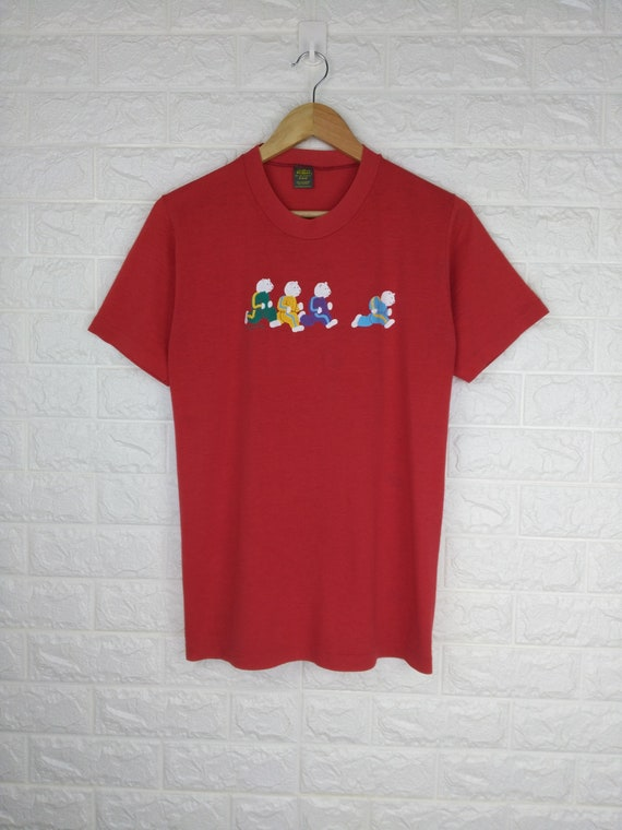 Vintage 80's RUNNING BEARS Shirt Jerzees Jerzees B