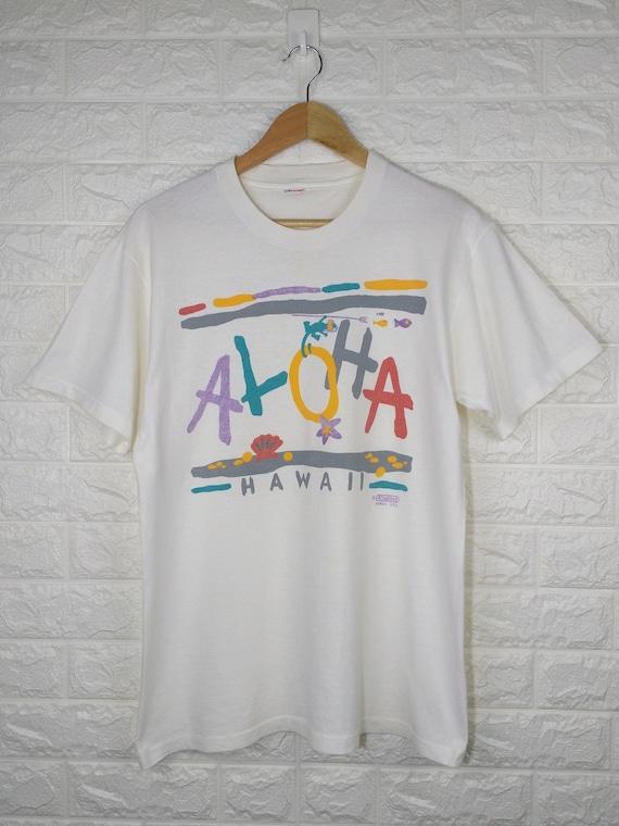 VINTAGE 80's ALOHA HAWAII Shirt Rivaltees Hawaii U