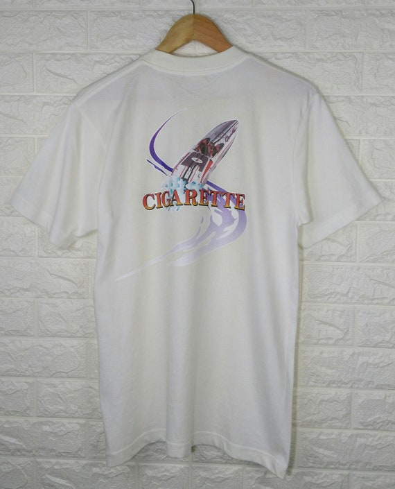 CIGARETTE WORLD Champion Vintage 90's  Shirt Cigar