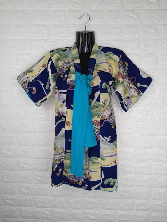 Vintage Child Kimono Rare Pattern