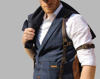 Leather Suspenders, Suspenders men, Suspenders Personalise, Leather Braces