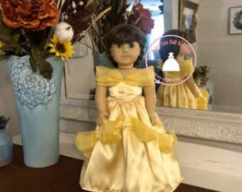 """Belle Beauty and the Beast American Girl 18"""" Doll Dress"""