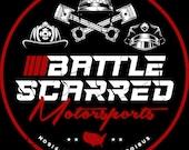 Battle Scarred Motorsports Circular Logo Sticker
