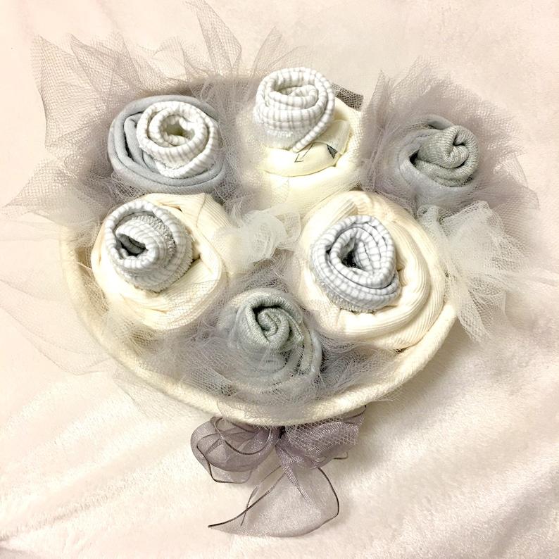 Neutral Baby Cupcake Gift Basket image 0