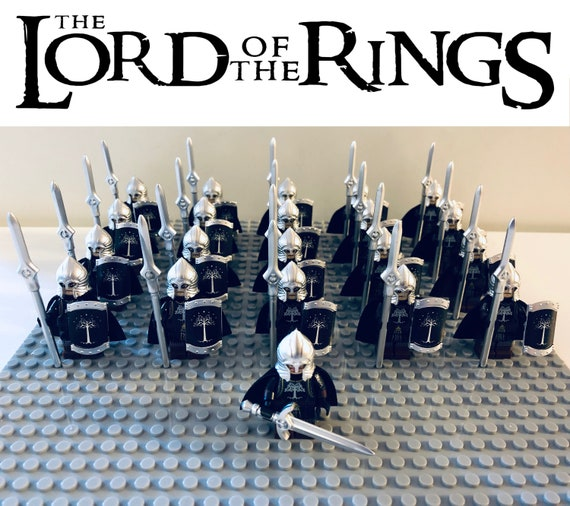 Lord Of The Rings Hobbit GONDOR Fountain Guards Minifigures Army 21Pcs Kids Toys