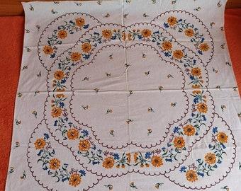 Vintage Pillow Case Pair Pink White Crocheted Insert Edge Flower Floral Old Linens PanchosPorch
