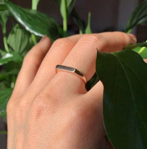 Stacking Ring Dainty ring Gift for Her Trendy Ring 10k Solid Gold Ring gift for mom Mothers day Rings For Women