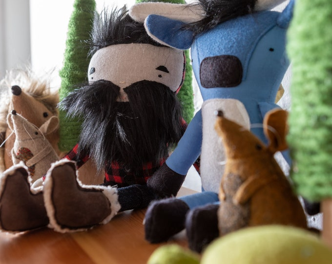 Featured listing image: Paul Bunyan and Babe | Handmade | Dolls | Original Design | Free & Fast Shipping