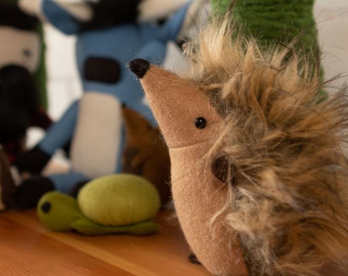 Featured listing image: Hedgehog   Handmade   Original Design   Wool felt & Faux fur   Fast Shipping  