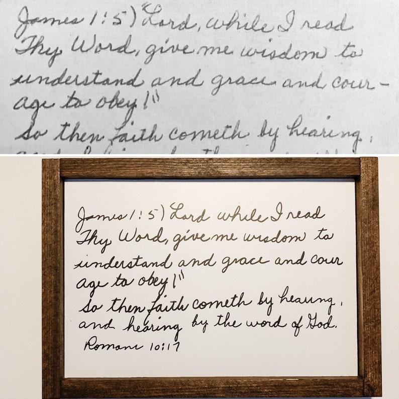 Hand written signs