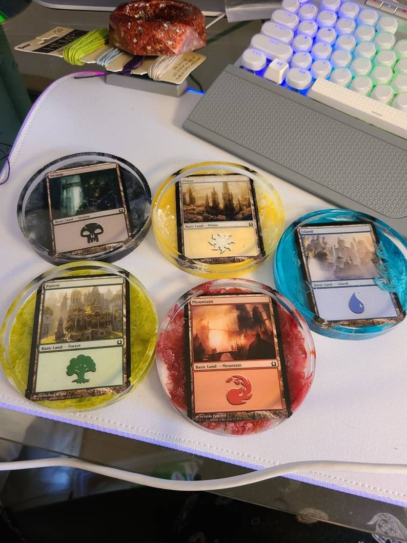 Magic the Gathering coasters