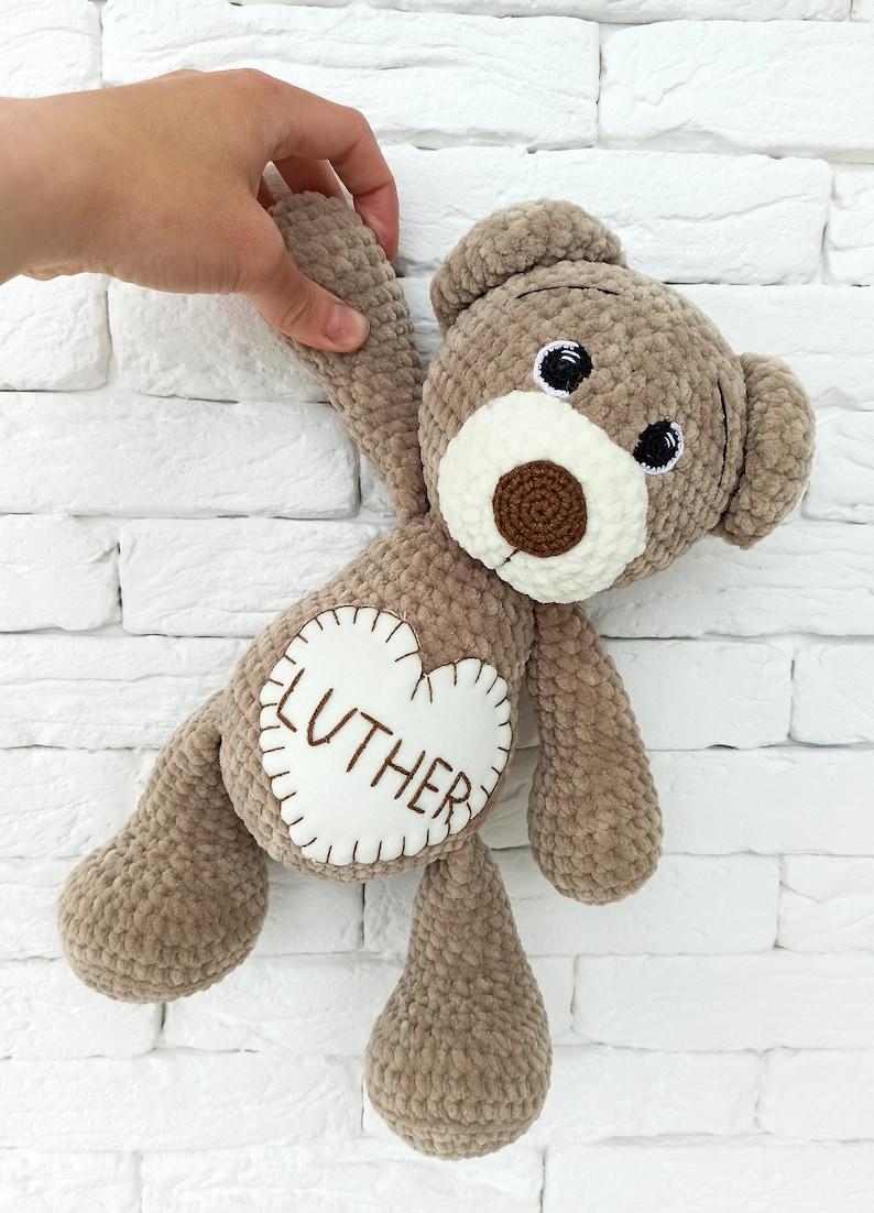 Stuffed teddy bear Custom plush Crochet bear Personalized image 0