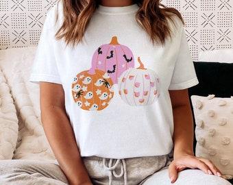 Pastel Halloween PNG Sublimation Spooky Pumpkins Tshirt Design