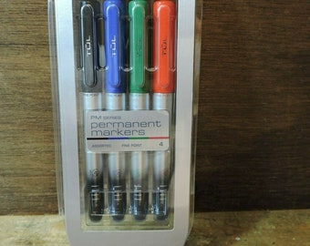 Just Stationary Pack Of 8 Coloured Permanent Markers 5635