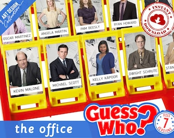 Guess Who? THE OFFICE Insert Cards • Montessori cards • Party Games Nomenclature Cards PDF Printable Cards preschool Toys Flash Cards Party